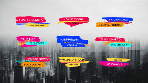 Colorful Lower Thirds After Effects Template
