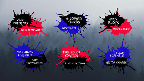 Inky Blots Lower Thirds After Effects Template