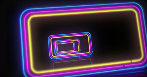 Neon background fly between Animation