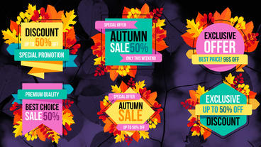 Autumn Sale Titles Plantilla de After Effects