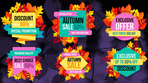 Autumn Sale Titles After Effectsテンプレート