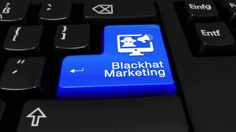 92. Blackhat Marketing Round Motion On Computer Keyboard Button Footage