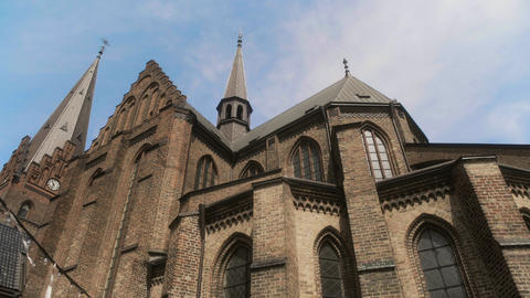 St Petri or St Peter's Church in Malmo Sweden Live Action