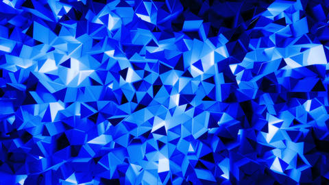 Abstract shining triangular geometric loop background Stock Video Footage