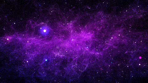 Galaxy Nebula Space Universe Loop Colorful Stars Background 4K Animación