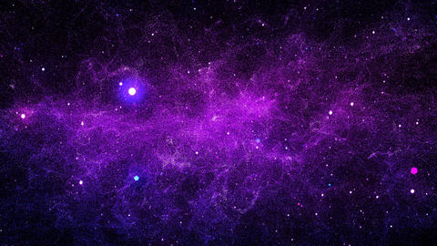 Galaxy Nebula Space Universe Loop Sky Colorful Stars... Stock Video Footage