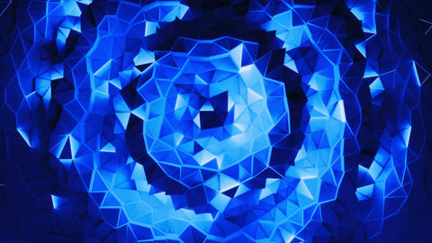 Luxury blue crystal facet background Animation