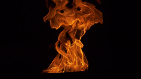 Flame in the dark Slow Motion at Night GIF