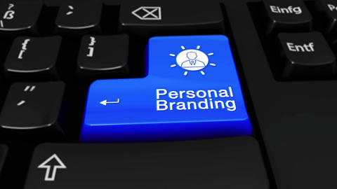 219. Personal Branding Round Motion On Computer Keyboard Button Live Action