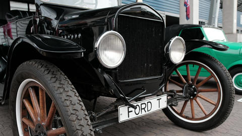 Moscow region, RUSSIA - September 16, 2018: retro car brand Ford T Footage
