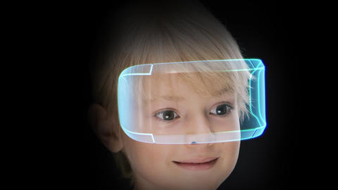 Virtual reality headset, innovation technology of future entertainment Footage