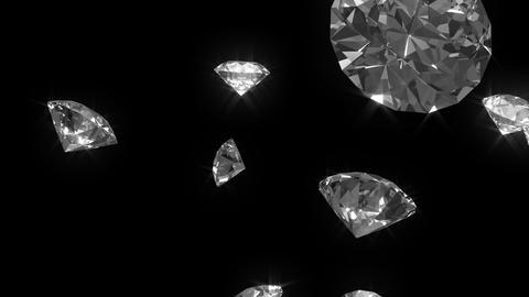 Falling diamonds 02 - looped cg animation ビデオ