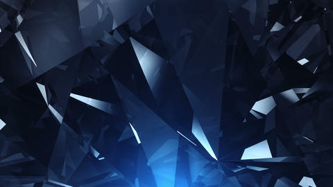 4k Blue diamond background loop Live Action