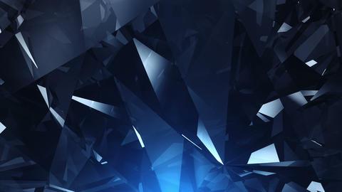4k Blue diamond background loop Footage