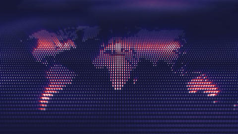 World map corporate background with lights and digital…, Stock Animation