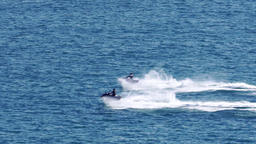 Two jetski along the ocean 영상물