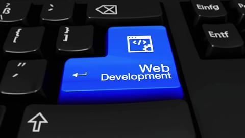 310. Web Development Round Motion On Computer Keyboard Button Footage