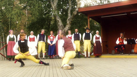 Traditional Swedish Folk Tradition Slow Motion Footage