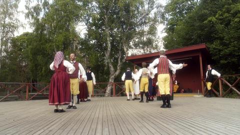Dancing to Traditional Swedish Folk Music Footage