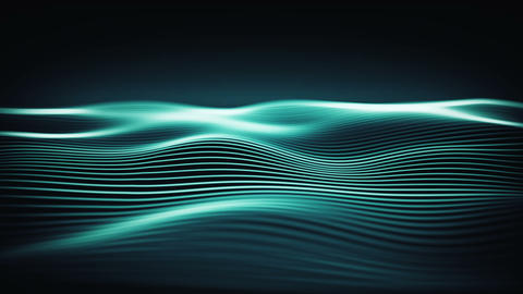 Dynamic wallpaper with energy waves in a cyber space.... Stock Video Footage