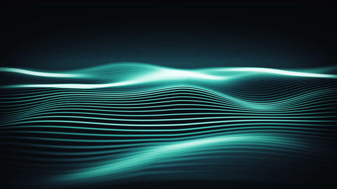 Dynamic wallpaper with energy waves in a cyber space. Futuristic abstract stream Animation