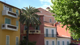 France Cote d'Azur Villefranche sur Mer colorful homes in old town GIF