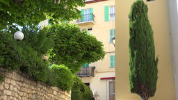 France Cote d'Azur Villefranche sur Mer idyllic backyard with trees and plants GIF