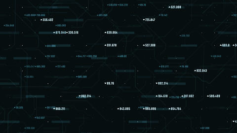 Cyberspace abstract financial background with numbers moving upwards. E-commerce Animation
