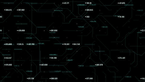 Digital market abstract background with commercial data flow. Futuristic Animation