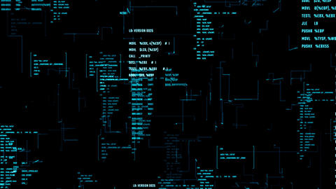 System information code on a screen. Abstract background... Stock Video Footage