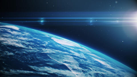 blue earth in open space Animation