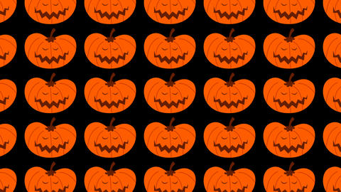 jack o lantern, Halloween pattern animation Footage