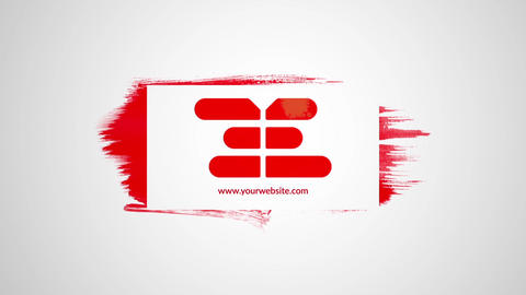 Stencil Brush Logo After Effects Template