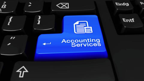 355. Accounting Services Round Motion On Computer Keyboard Button Live Action