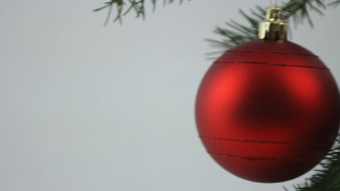 Red Christmas Bulb stock footage