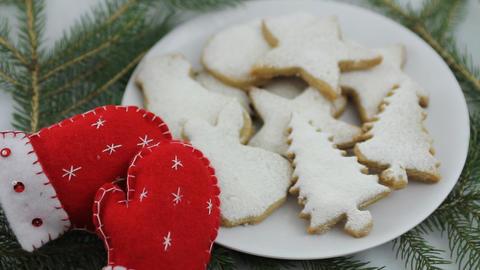 Christmas cookies Stock Video Footage