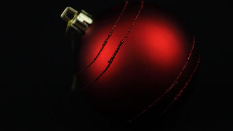 Red Christmas bulb Stock Video Footage