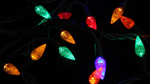 Christmas lights Stock Video Footage