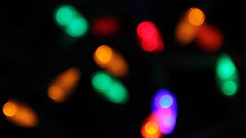 Christmas lights Stock Video Footage