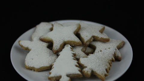Hands taking Christmas cookie Stock Video Footage