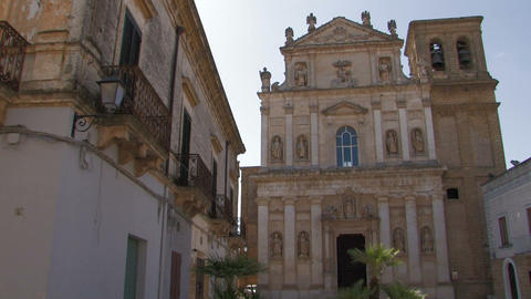 Old church in small italian village Stock Video Footage