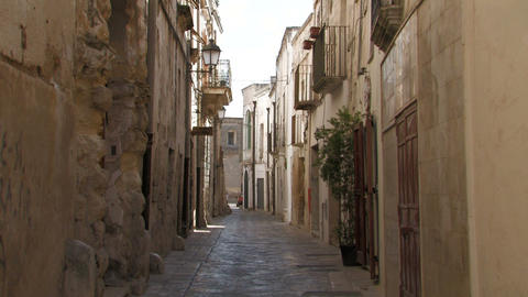 Narrow street in Italian village Footage