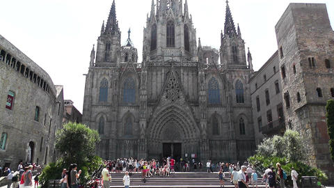 Barcelona Cathedral 04 Stock Video Footage