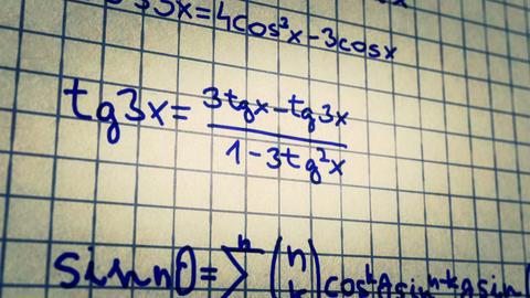 Science Mathematics 9 Stock Video Footage