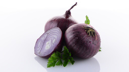 Red Onion Rotating stock footage