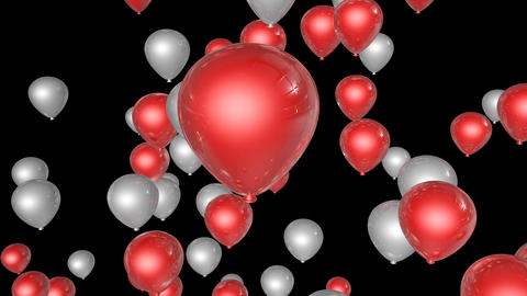 red white balloon Animation