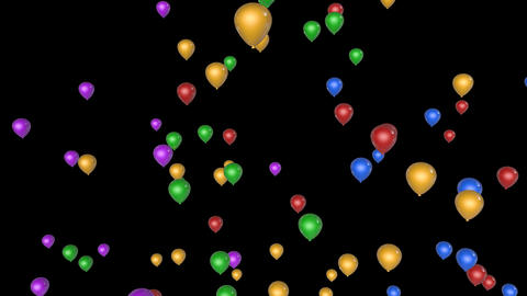 flying balloon party Animation