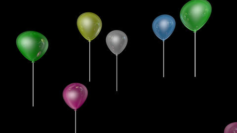 Shiny Balloon Party stock footage