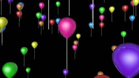colorfull flying balloons Stock Video Footage