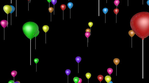 colorfull flying balloons Animation